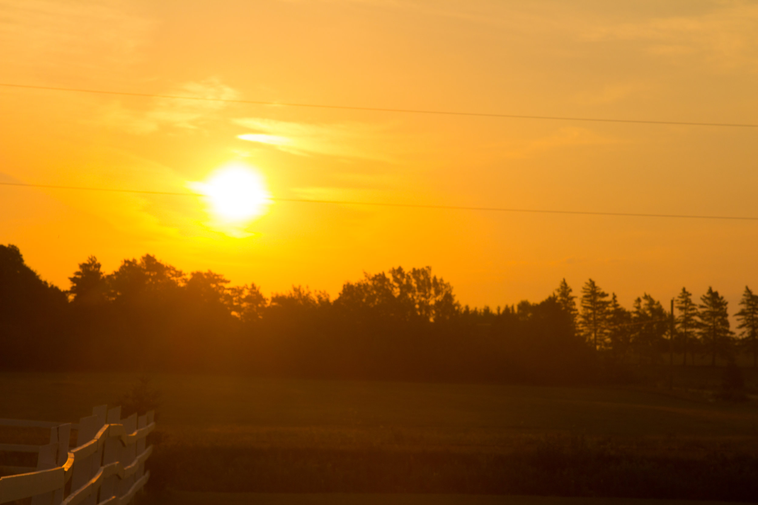 Sunrise in Prince Edward Island