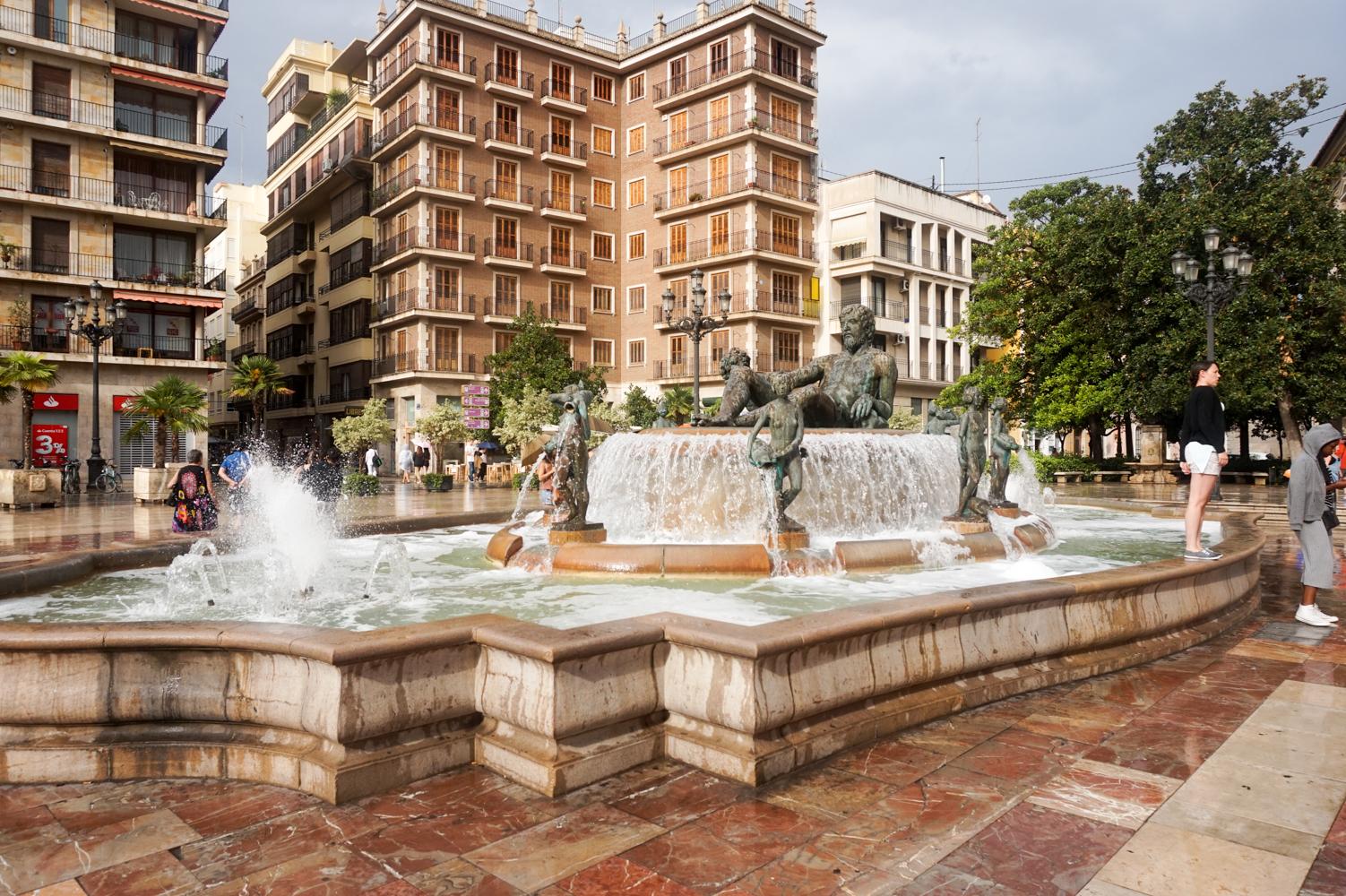 Fountain in Valencia Spain