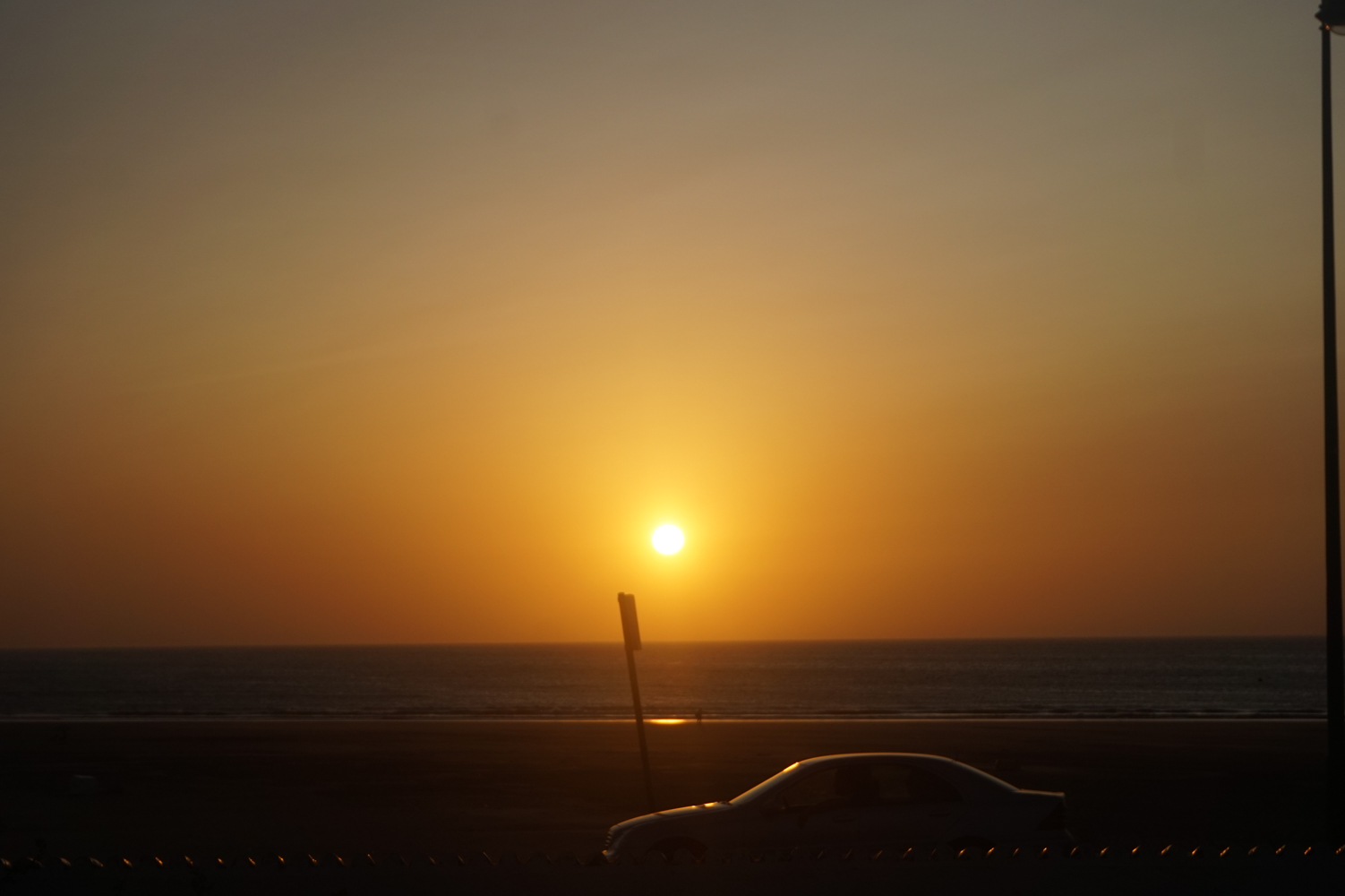 A Sunset on the beach in Asilah Morocco