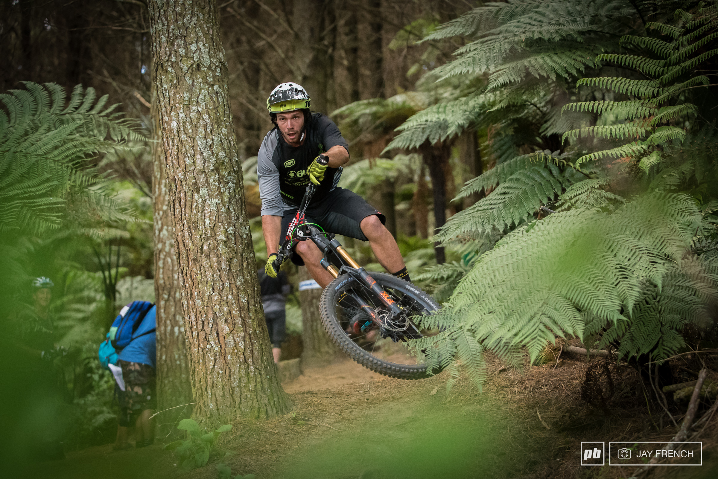 Cube racer Matt Walker shows he has style for miles in the Redwoods.