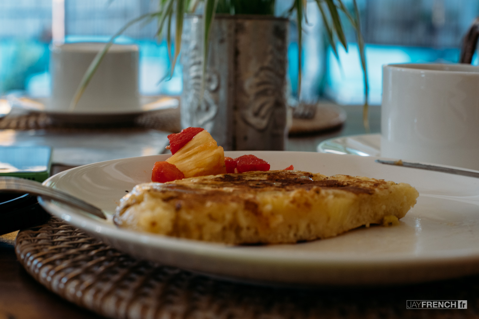 Fresh Polenta Pancakes.