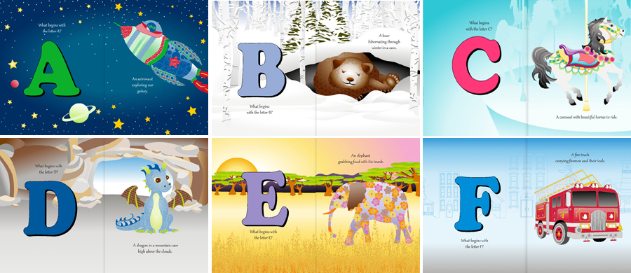 My Alphabet World   pages A through F