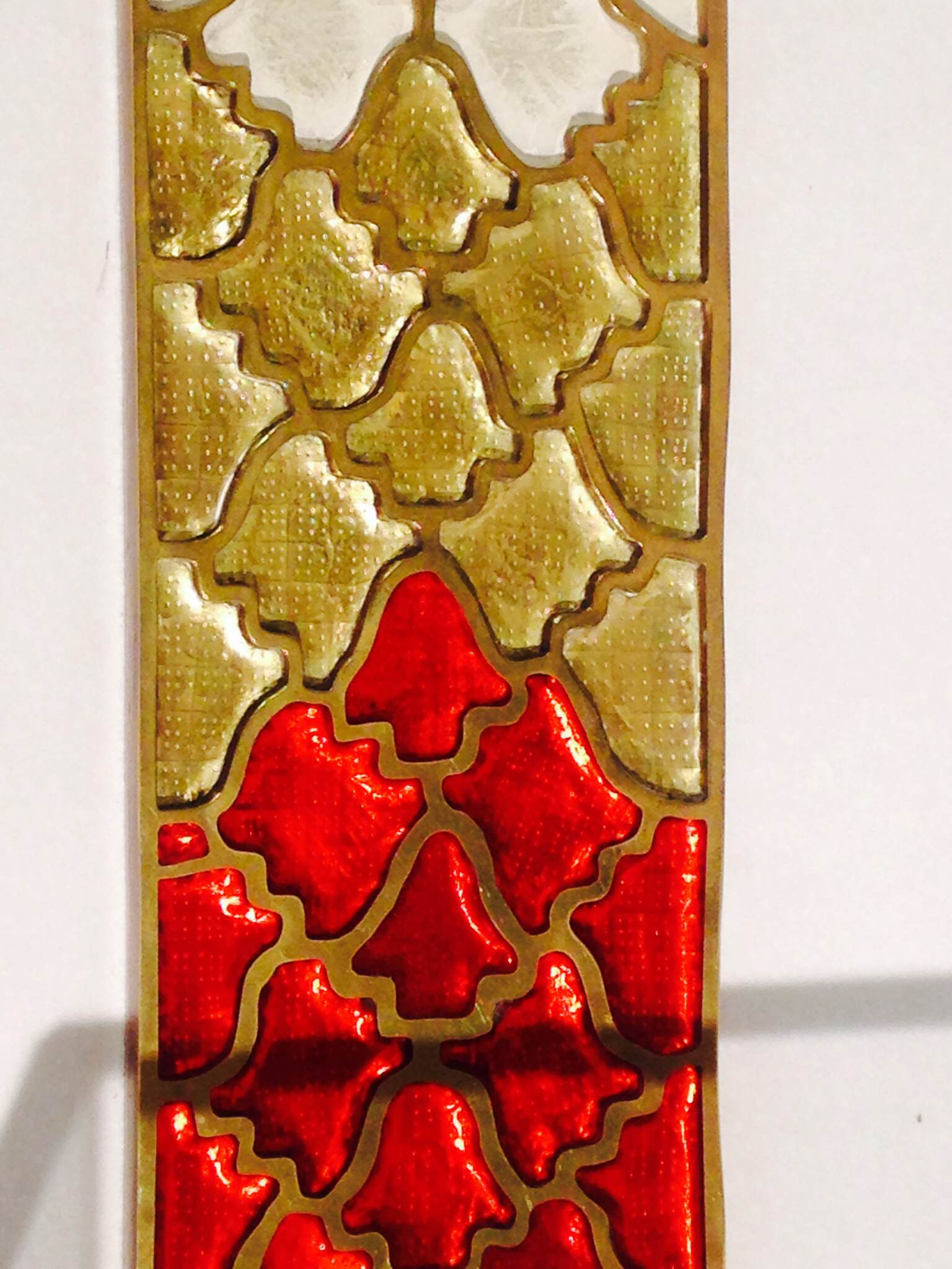One of the artefacts that make up the Staffordshire Hoard: gold with inlaid garnets