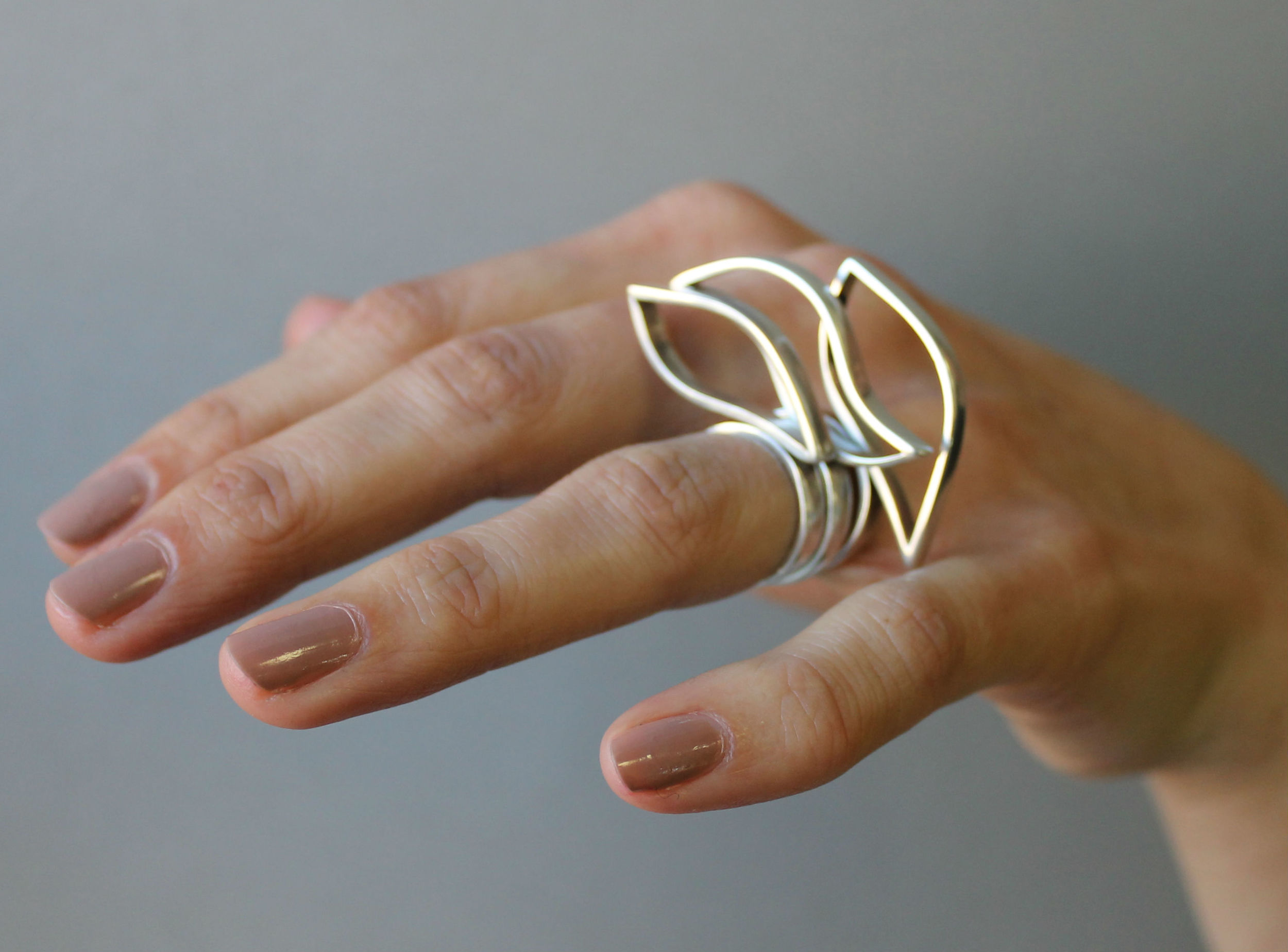 Three of my rings worn together as stacking rings. They also look great on their own!