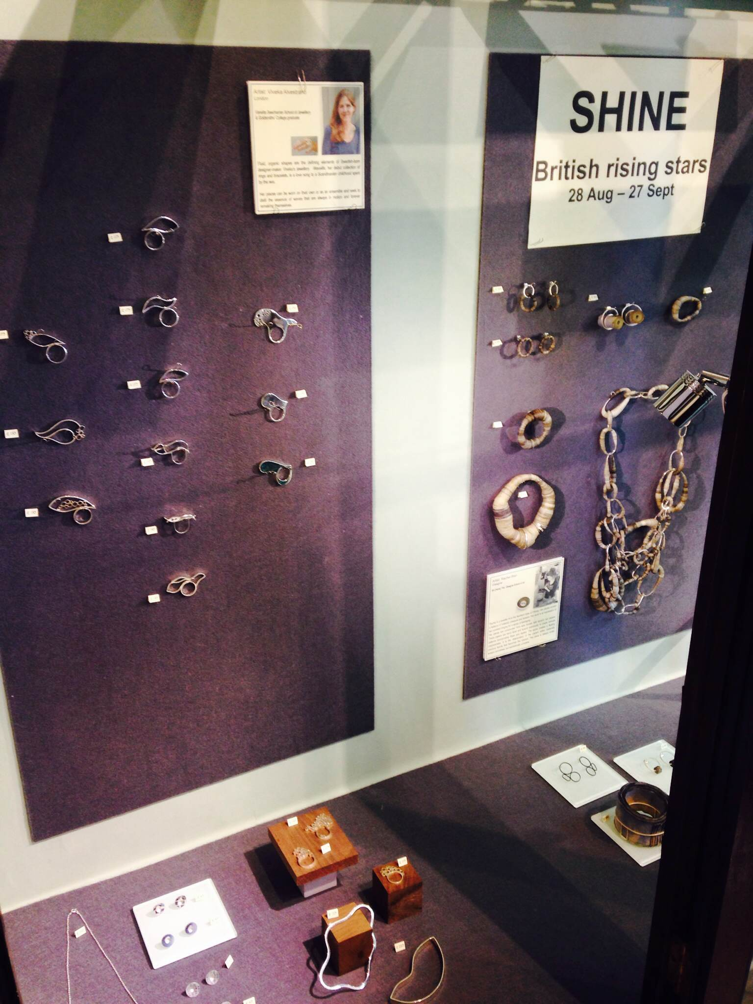 My rings and bracalets at Cursley & Bond