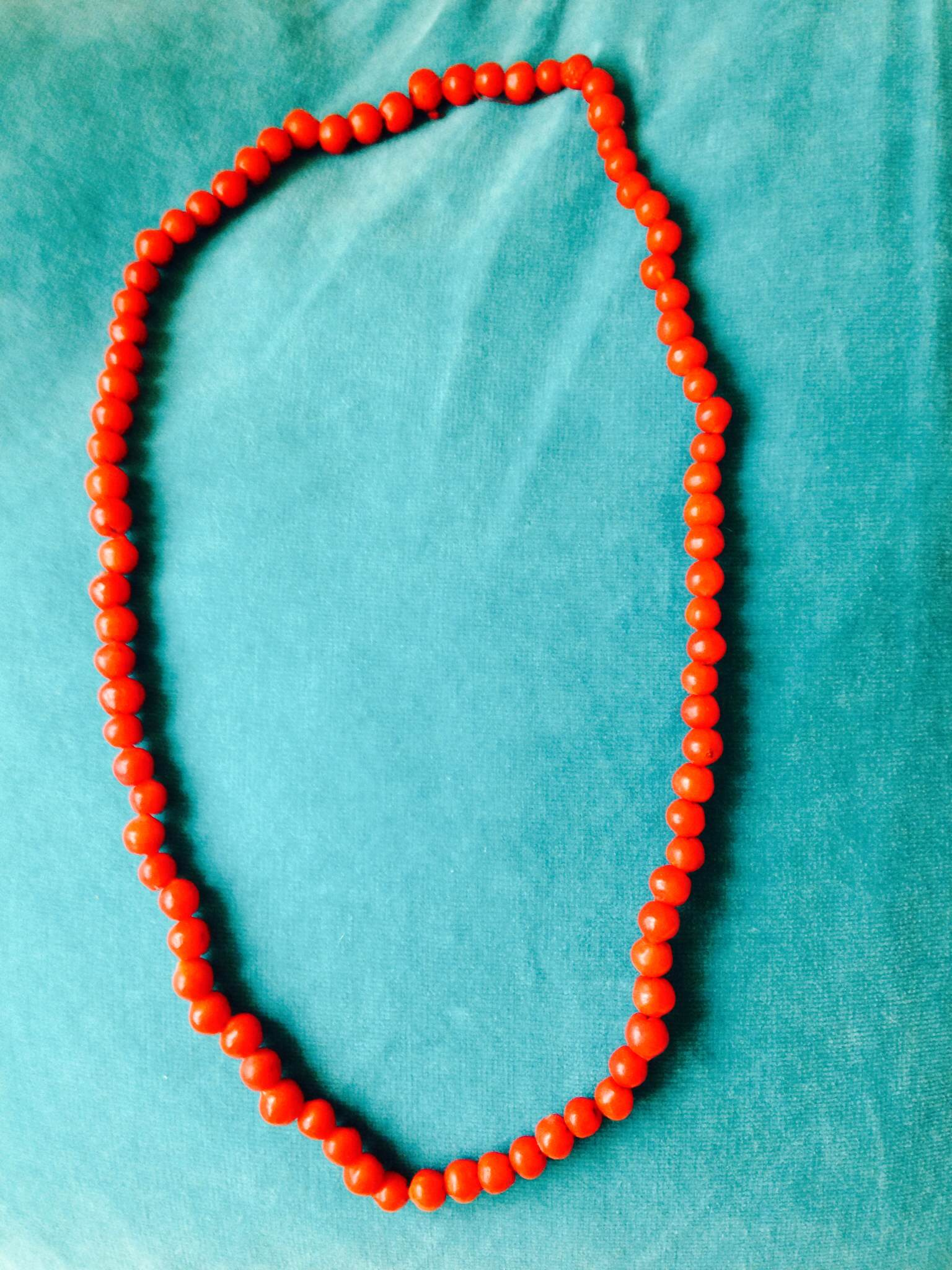 Necklace made from rowanberries