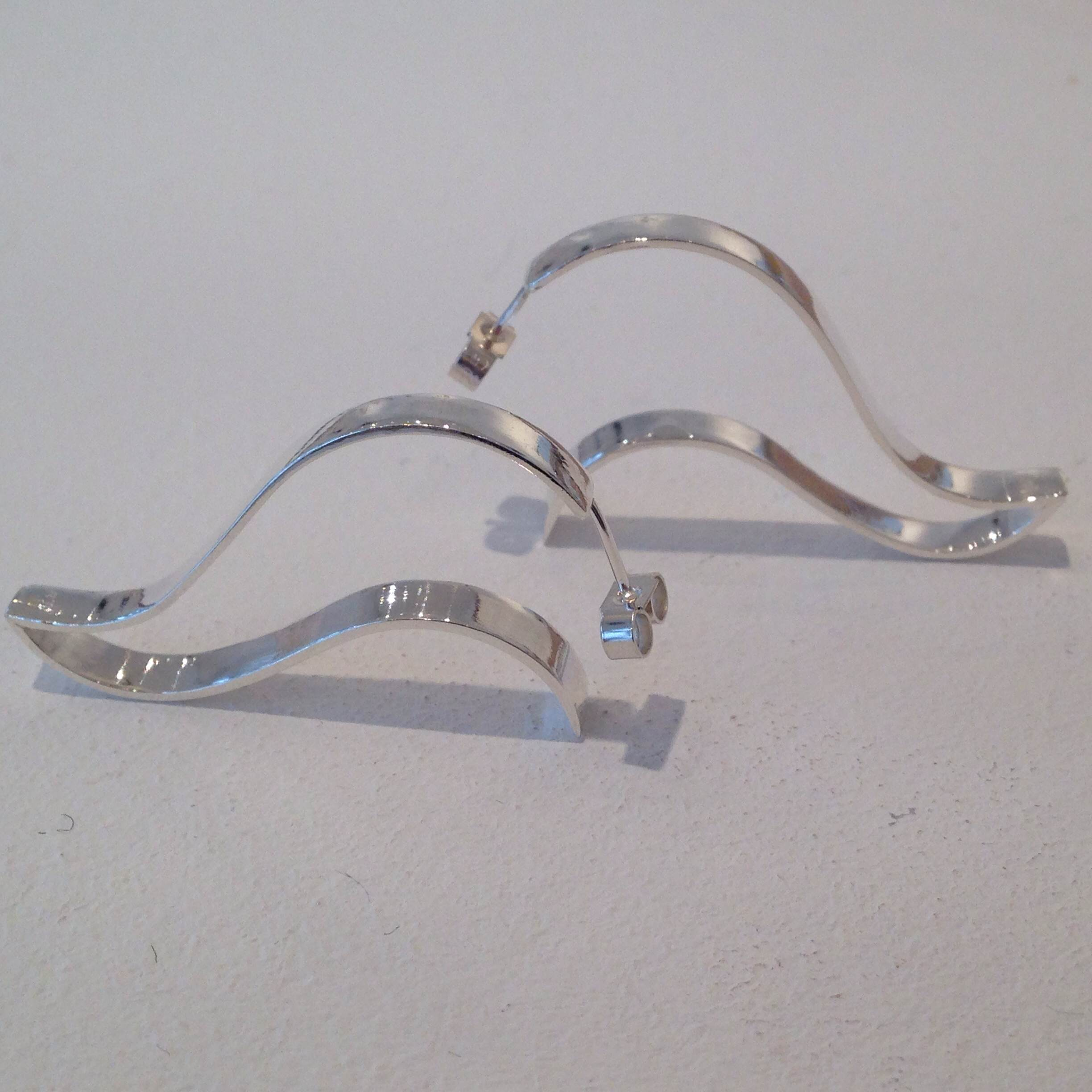 NEW: Sterling silver earrings, also available in gold
