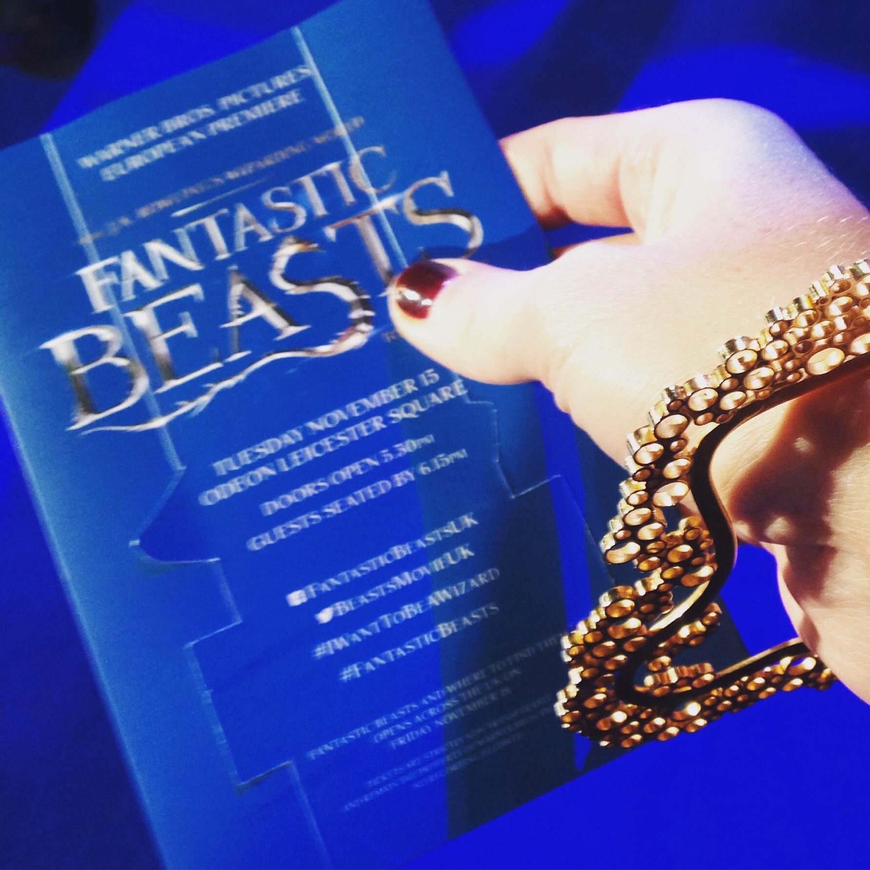 Viveka Alvestrand Jewellery goes to the Fantastic Beasts European premiere wearing a gold Fizz bracelet