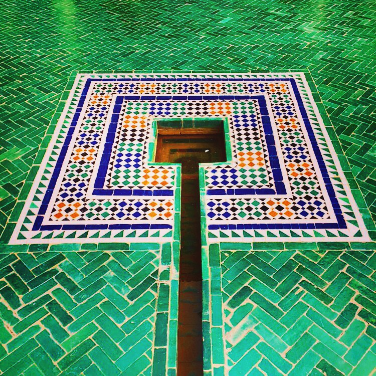 Green mosaics Le Jardin Secret.JPG