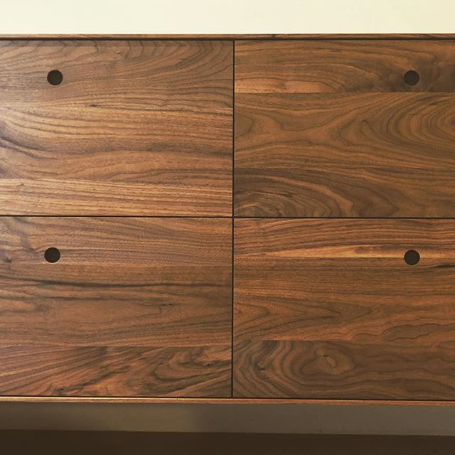 Crisp lines on our most recently installed furniture commission