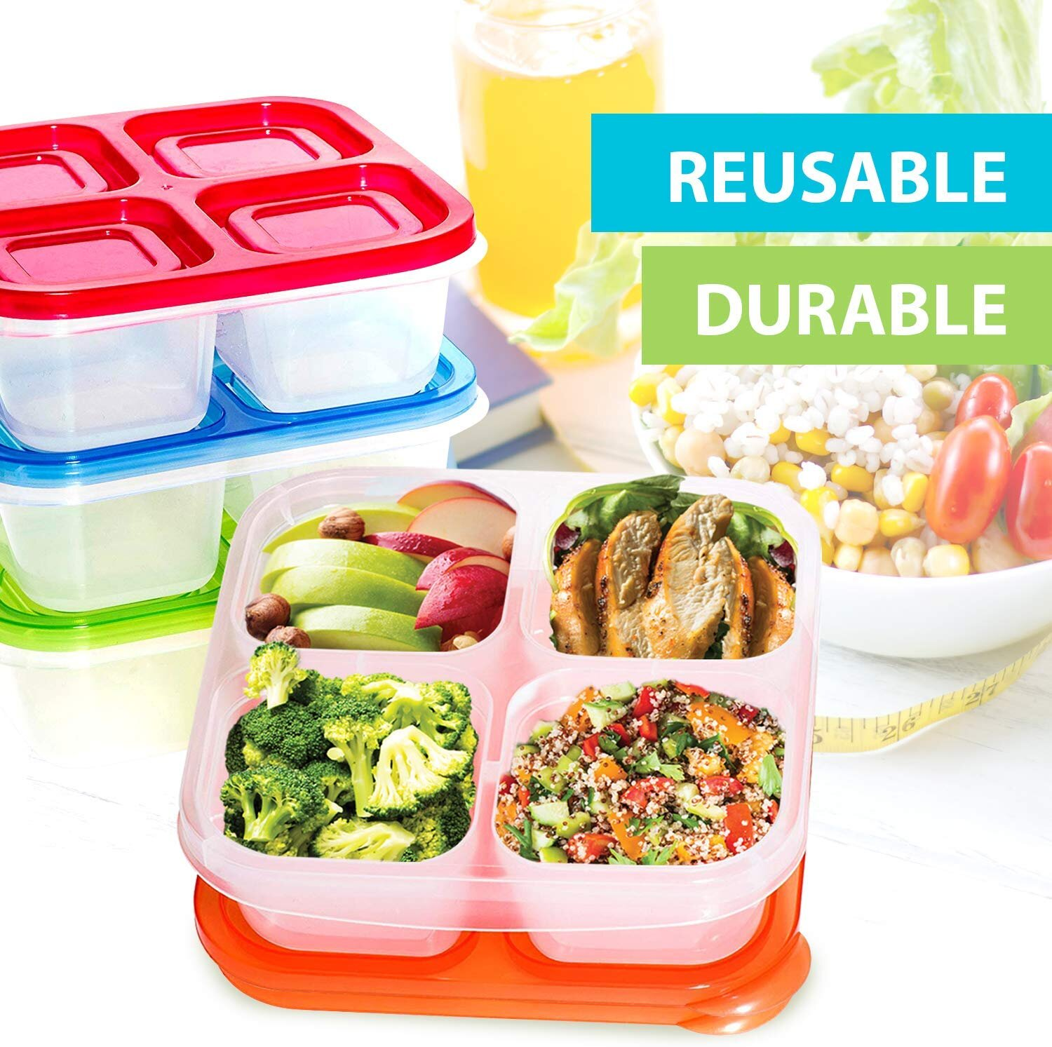 2pc Fresh Fruit Salad Container With Sauce Tub /& Fork Reusable Bottle Container