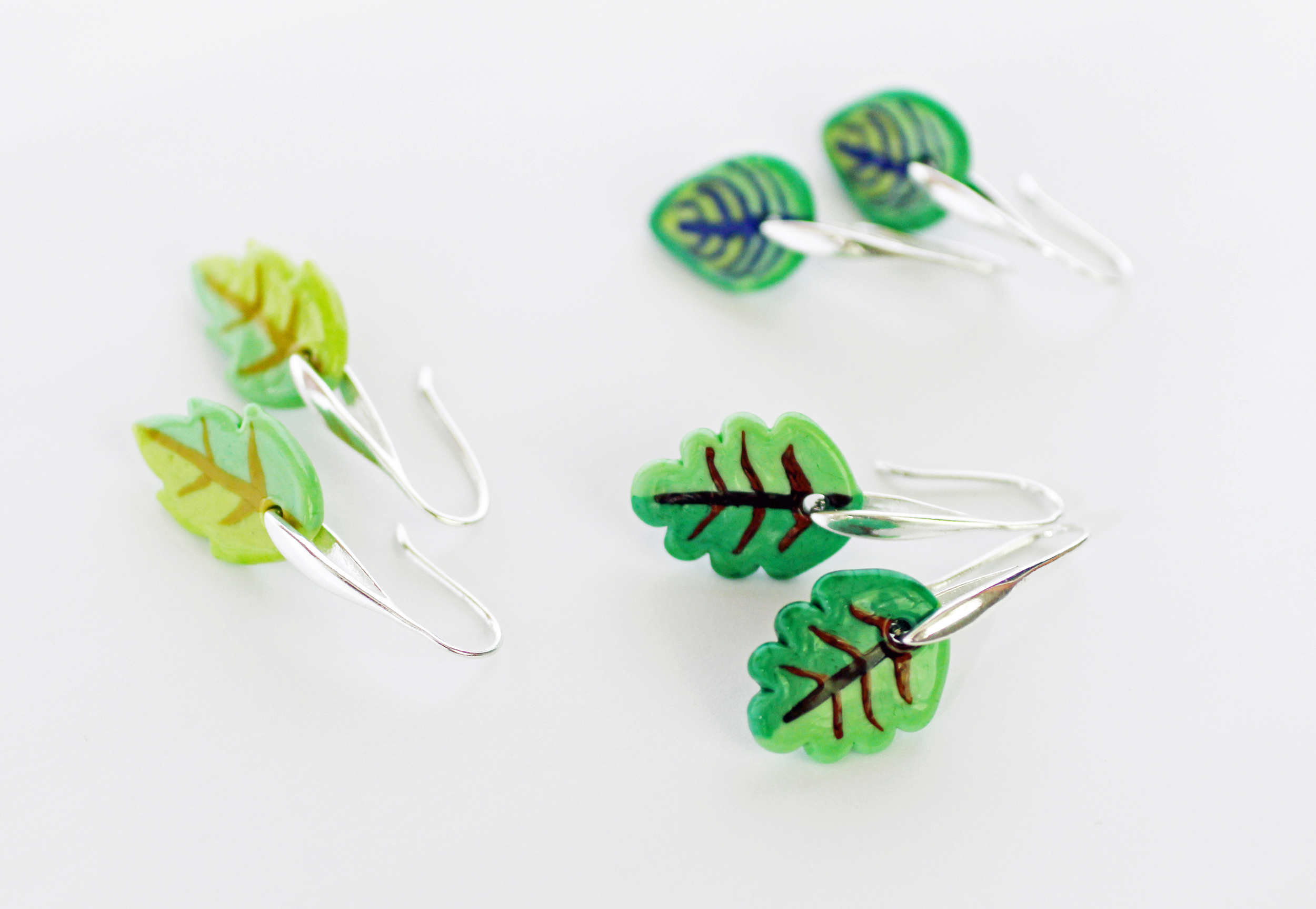 Leaf earrings, 2016
