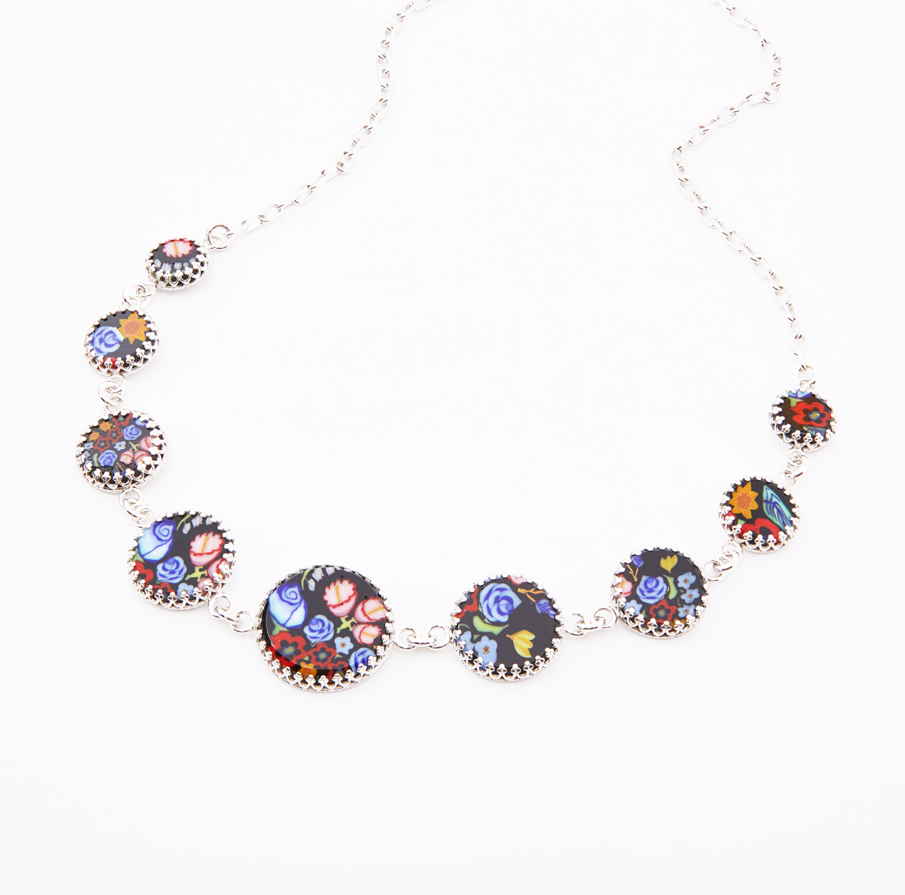 Botanical Murrine Cane Necklace, 2018