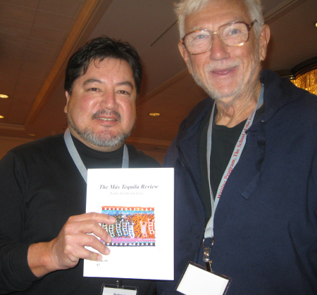 Richard Vargas and Gerald Locklin in Chicago, 2012.