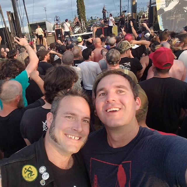 In the mosh pit with Abrams, founder of @cider_riot at #punkindrublic. #badreligion #sfontaprepresent #ciderriot