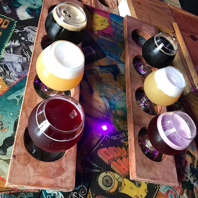 Can anyone guess what beers we had today at our walking #beertour?  I'll give you a clue: high gravity! . . . . . #instagood #photooftheday #beer #sanfrancisco #craftbeer #sf #bayarea #beerporn #instabeer #brewery #beersnob #beernerd #415 #craftbeers #OnlyInSF #ILoveSF #brewerytour #beertour #sfbeerweek #californiabeer #sfbeer #californiabeerfestival #bayareabeer