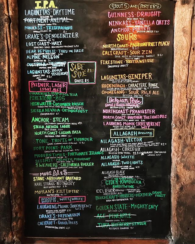 Thirsty yet?? These are some of the options we get on our tours. Can't complain!  Name your favorite from this list 🍻 . . . . . #instagood #photooftheday #beer #sanfrancisco #craftbeer #sf #bayarea #beerporn #instabeer #brewery #beersnob #beernerd #415 #craftbeers #OnlyInSF #ILoveSF #brewerytour #beertour #sfbeerweek #californiabeer #sfbeer #californiabeerfestival #bayareabeer #sfcraftbeer #sfbrewery