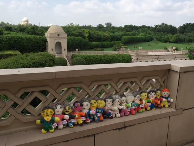 After the dolls left Sri Lanka, they visited in India for a couple of days on the way coming back to the States.