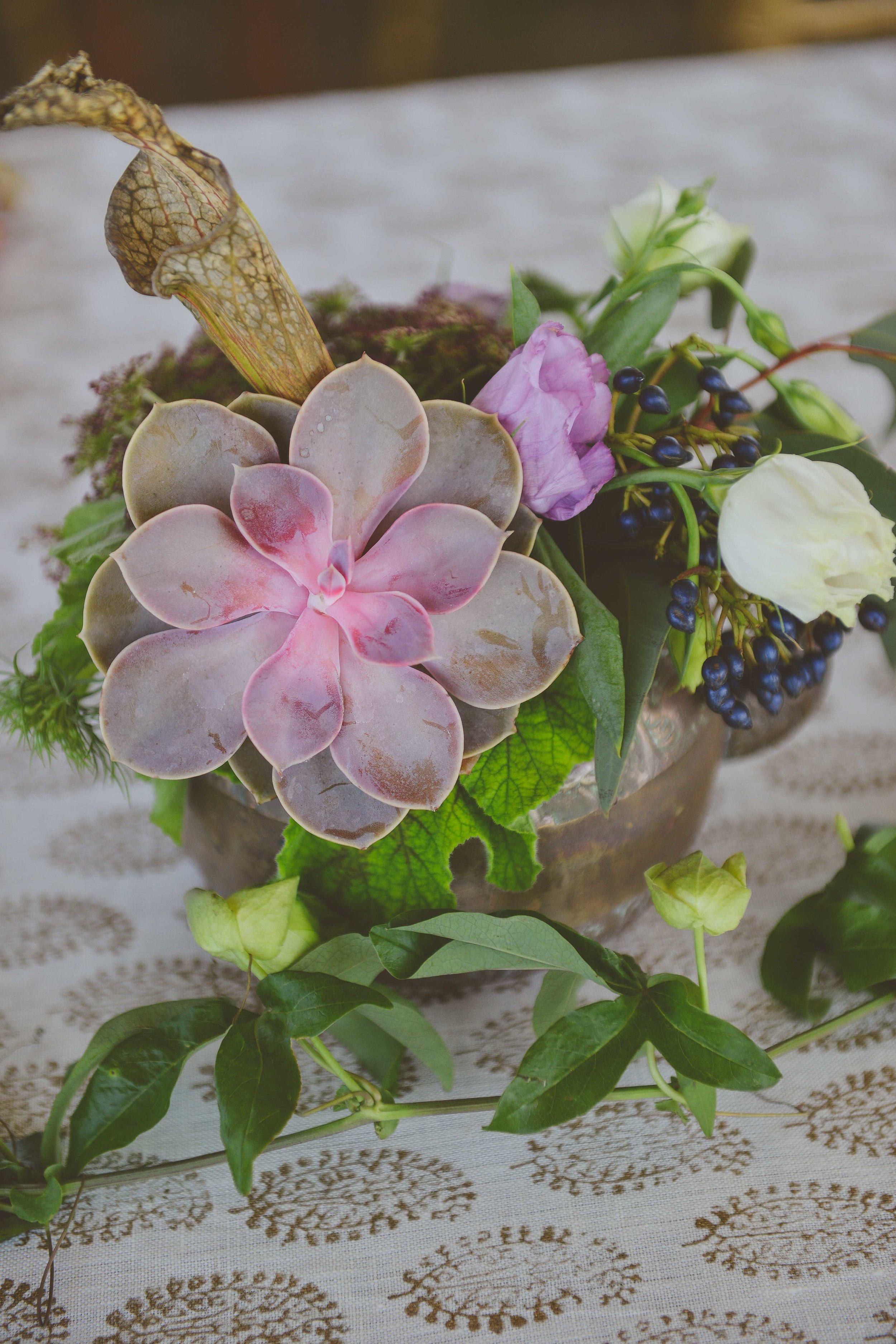 Bowerbird Flowers - table decor - spring wedding