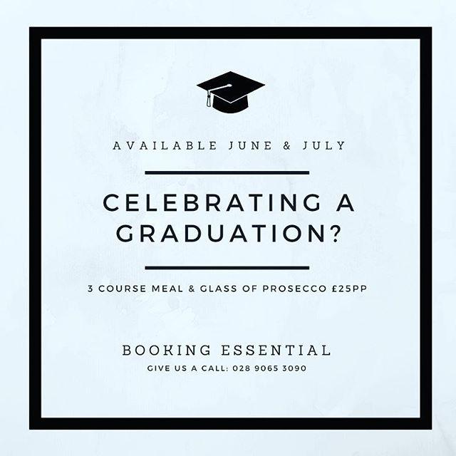 Celebrate your graduation with us!! 🎓 #horatiotodds #graduationmenu  #celebratewithus