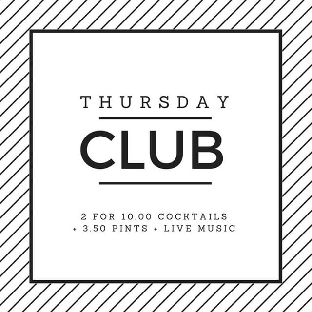 � THURSDAY CLUB �  2 for £10 cocktails and £3.50 pints from 5pm tonight!! #horatiotodds #ballyhackamore #thursdayclub