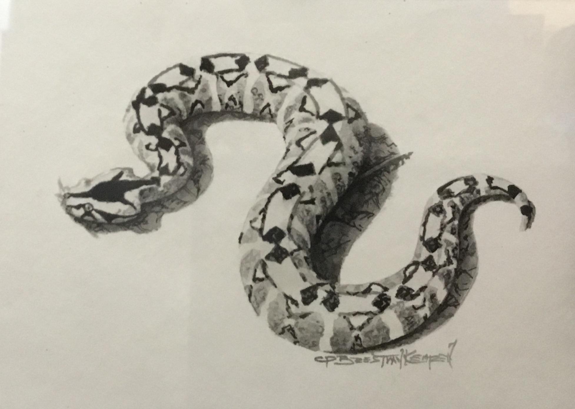 RIVER JACK PORTRAIT-INK WASH