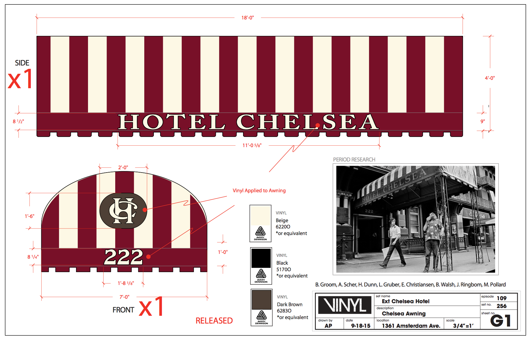 Chelsea Hotel Layout