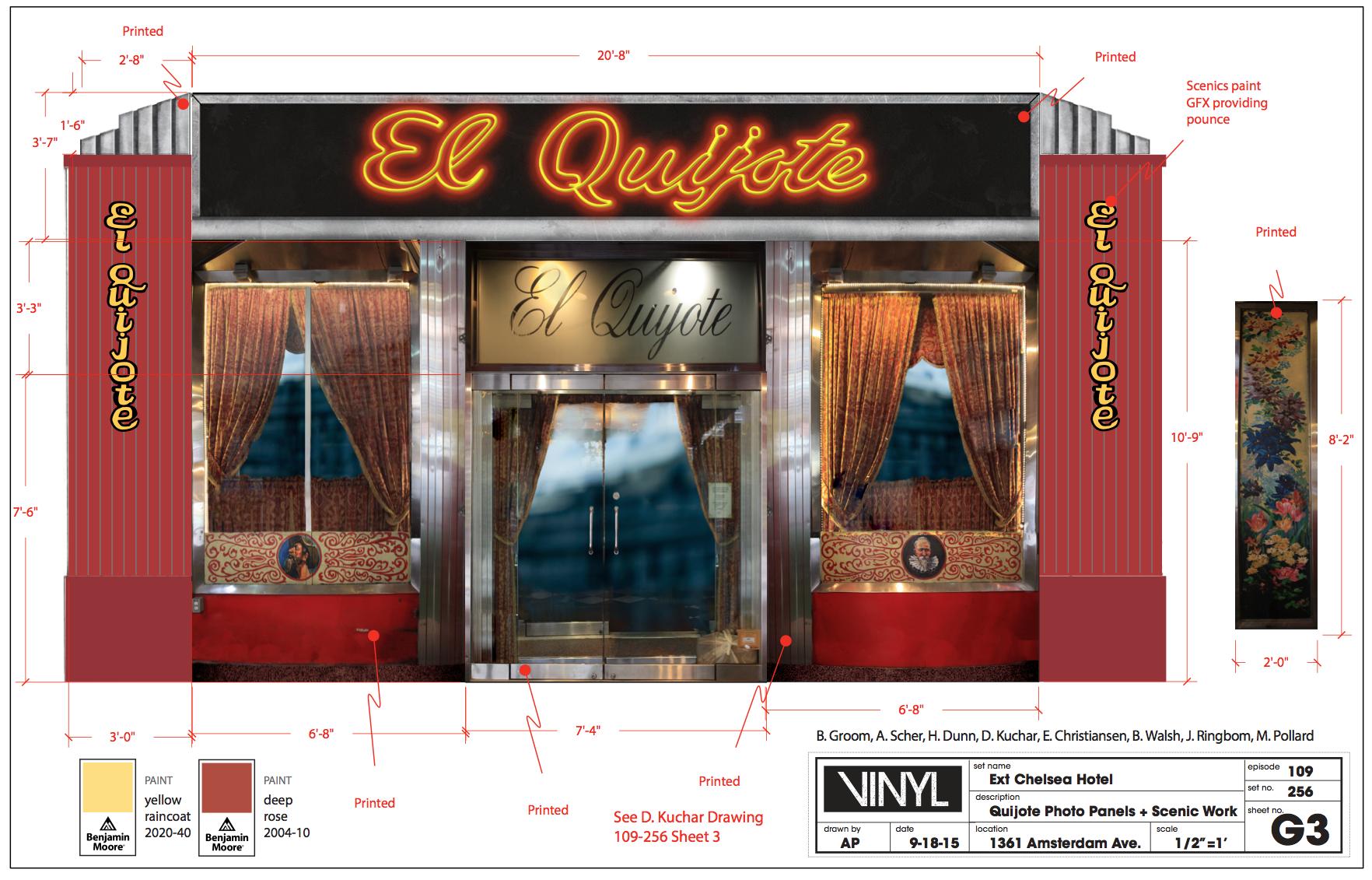 El Quijote Printed Scenery