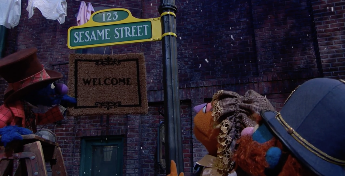 Old Timey Sesame Street Sign