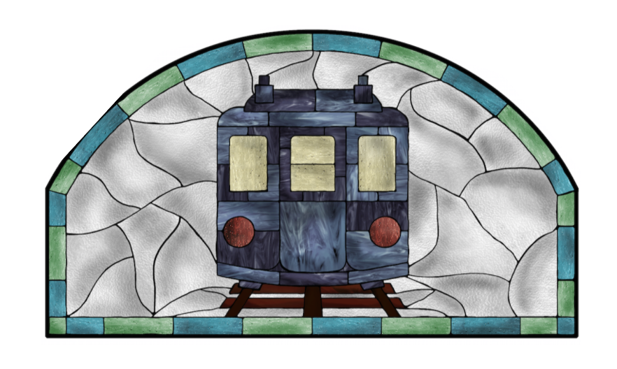 Old Timey Subway Stained Glass