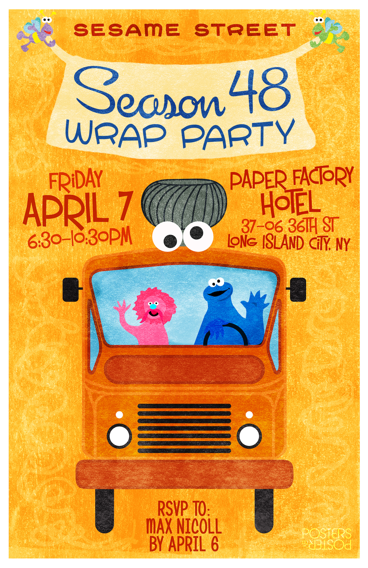 Wrap Party Poster