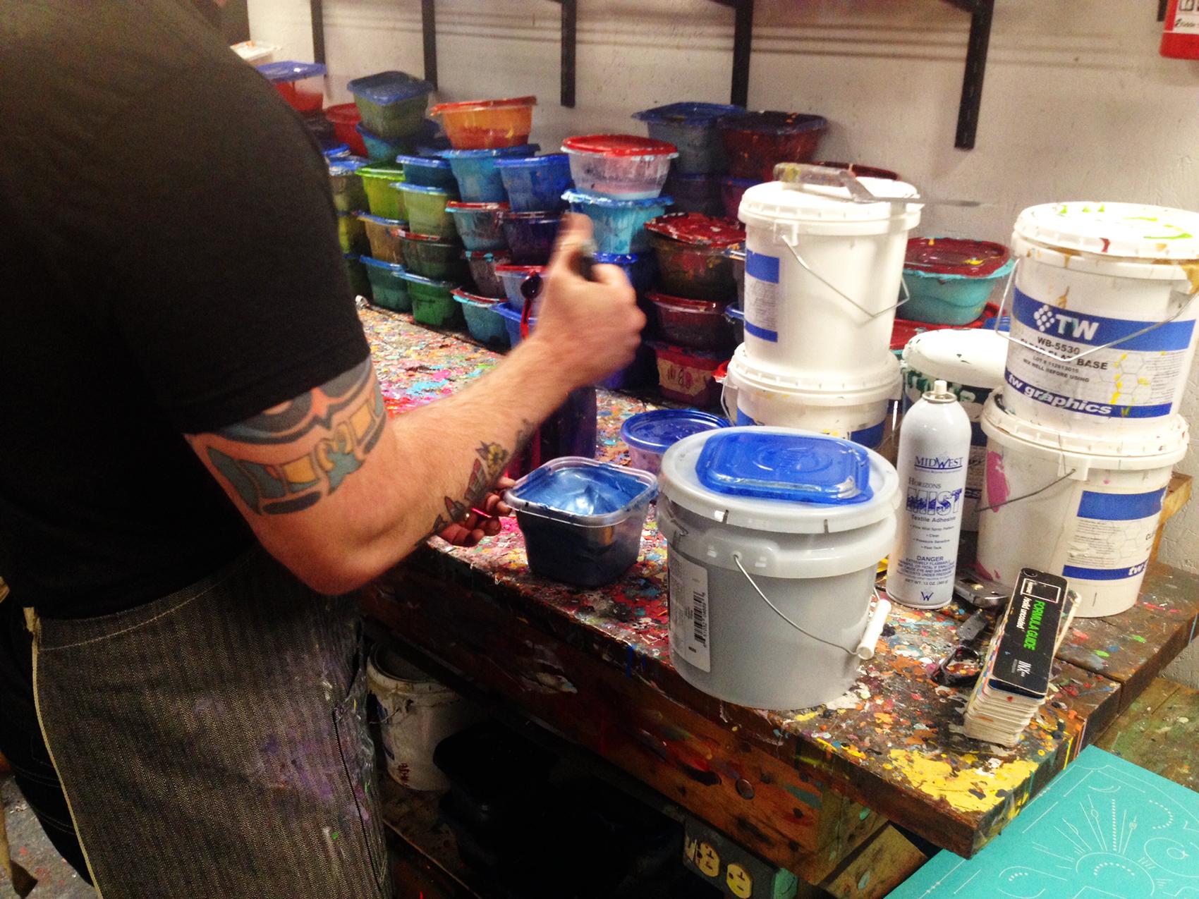 Dan mixed up the perfect metallic navy ink.