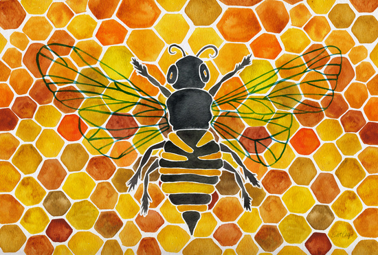 Bee & Honeycomb available  here .