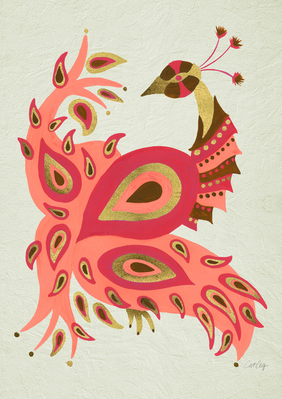 Peacock – Rose & Gold available  here .