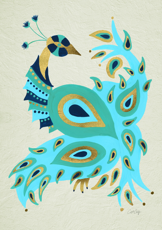 Peacock – Turquoise & Gold available  here .