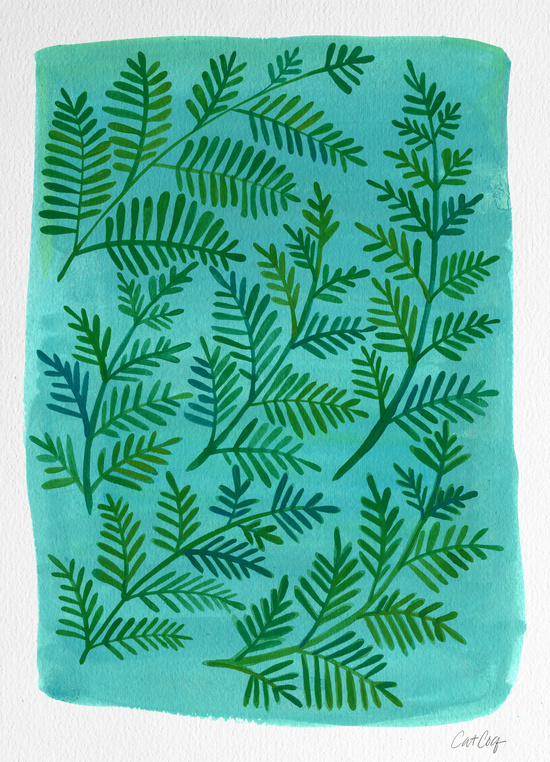 Painted Fronds available  here .