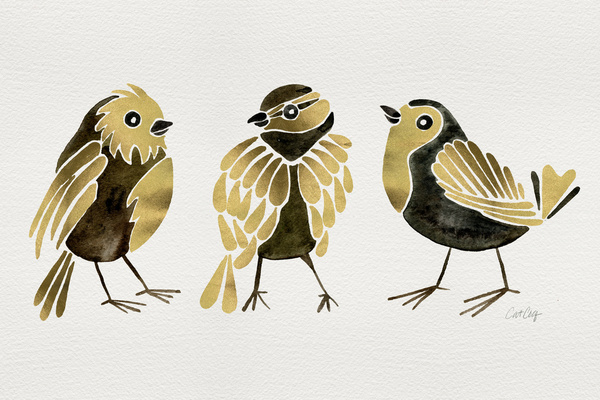 24-Karat Goldfinches available  here .