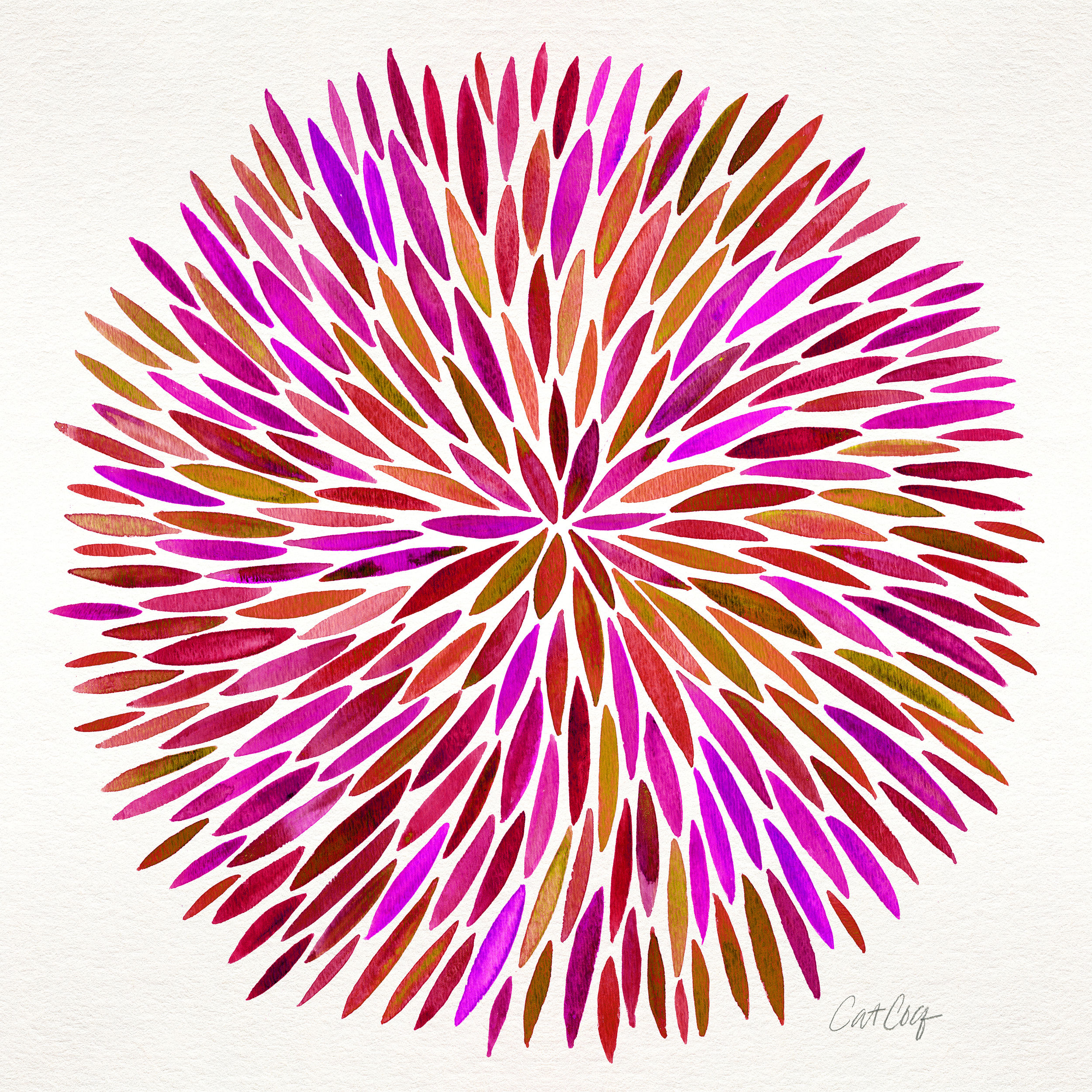 Pink Watercolor Burst available  here .