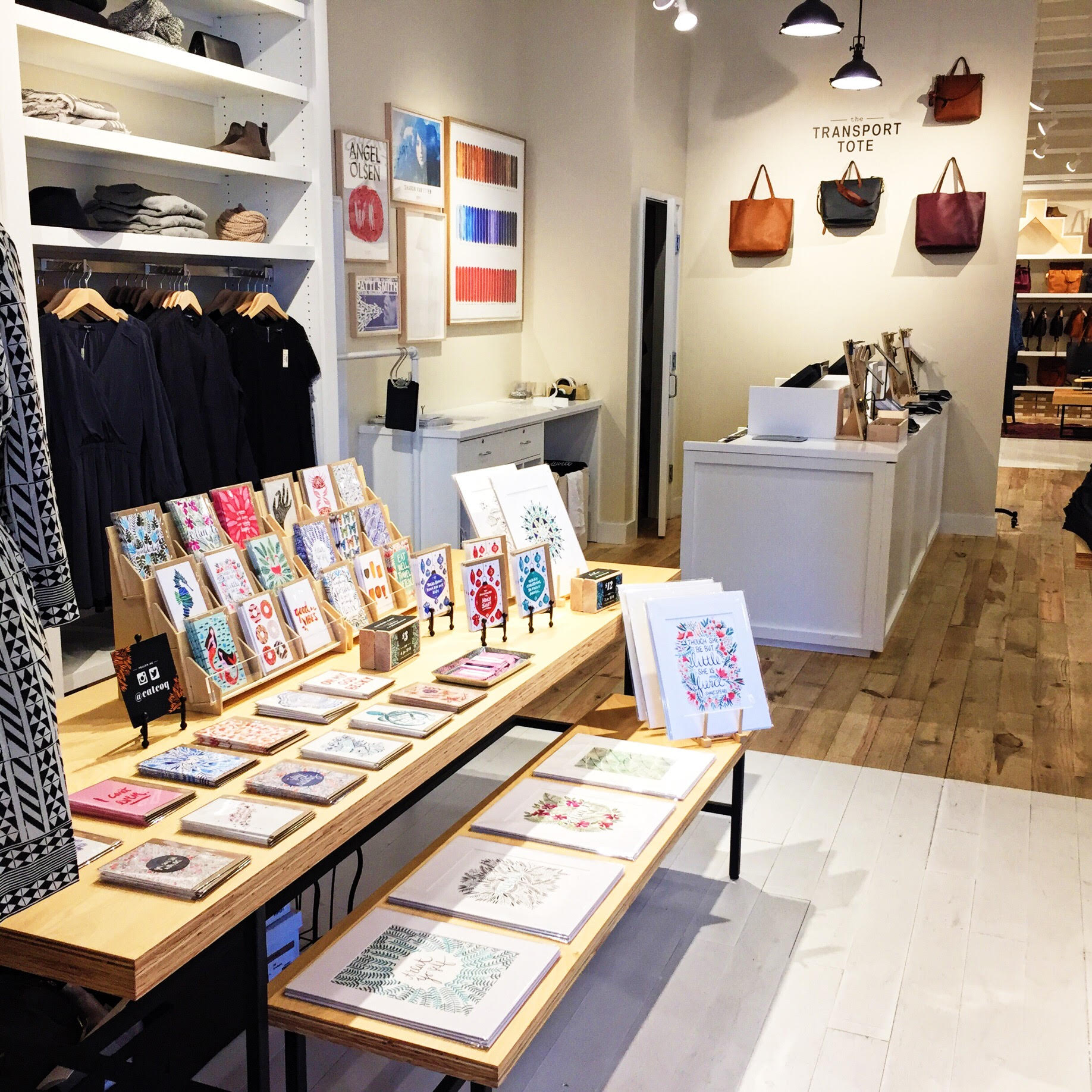 Madewell offered up a prime spot within their store– right in the front!