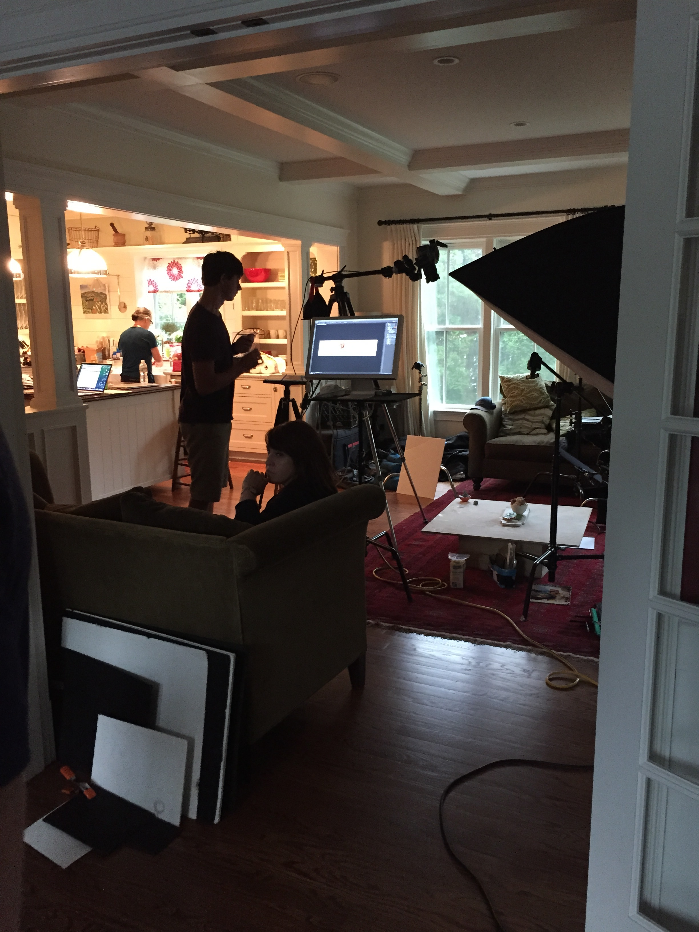 Our makeshift studio.