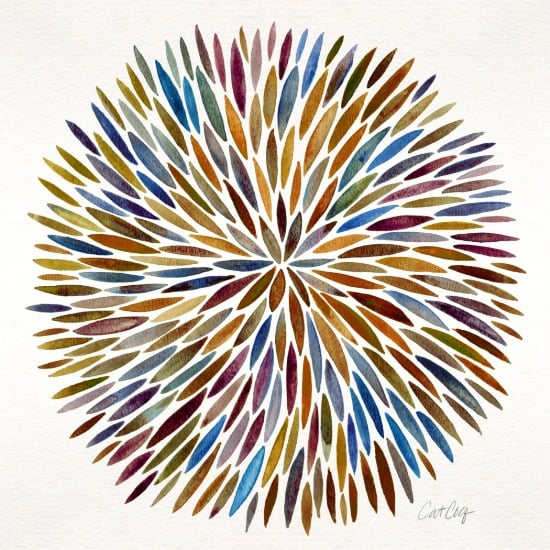 Watercolor Burst available  here .