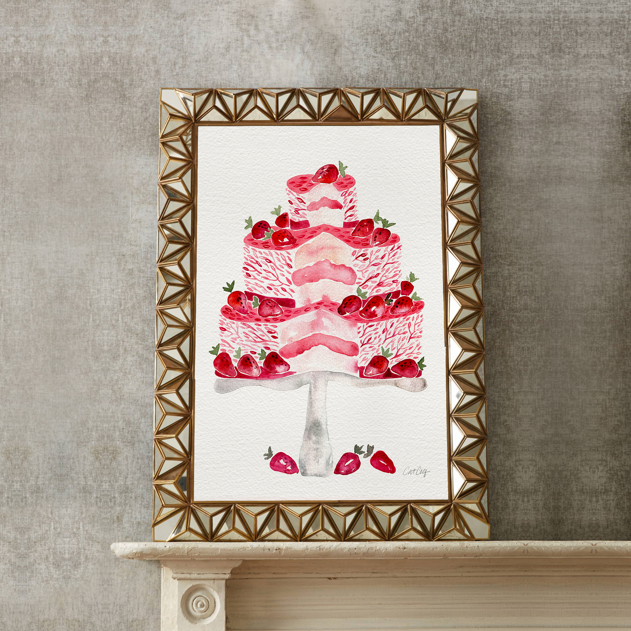 Strawberry Shortcake art print available  here .