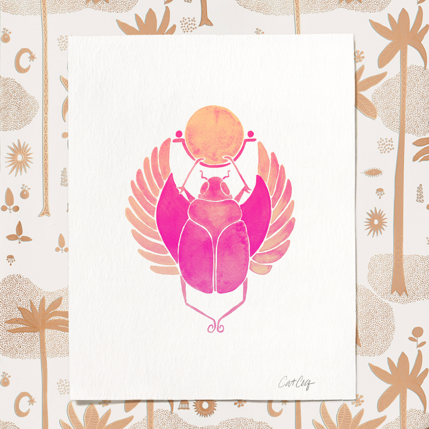 Egyptian Scarab art print available  here .