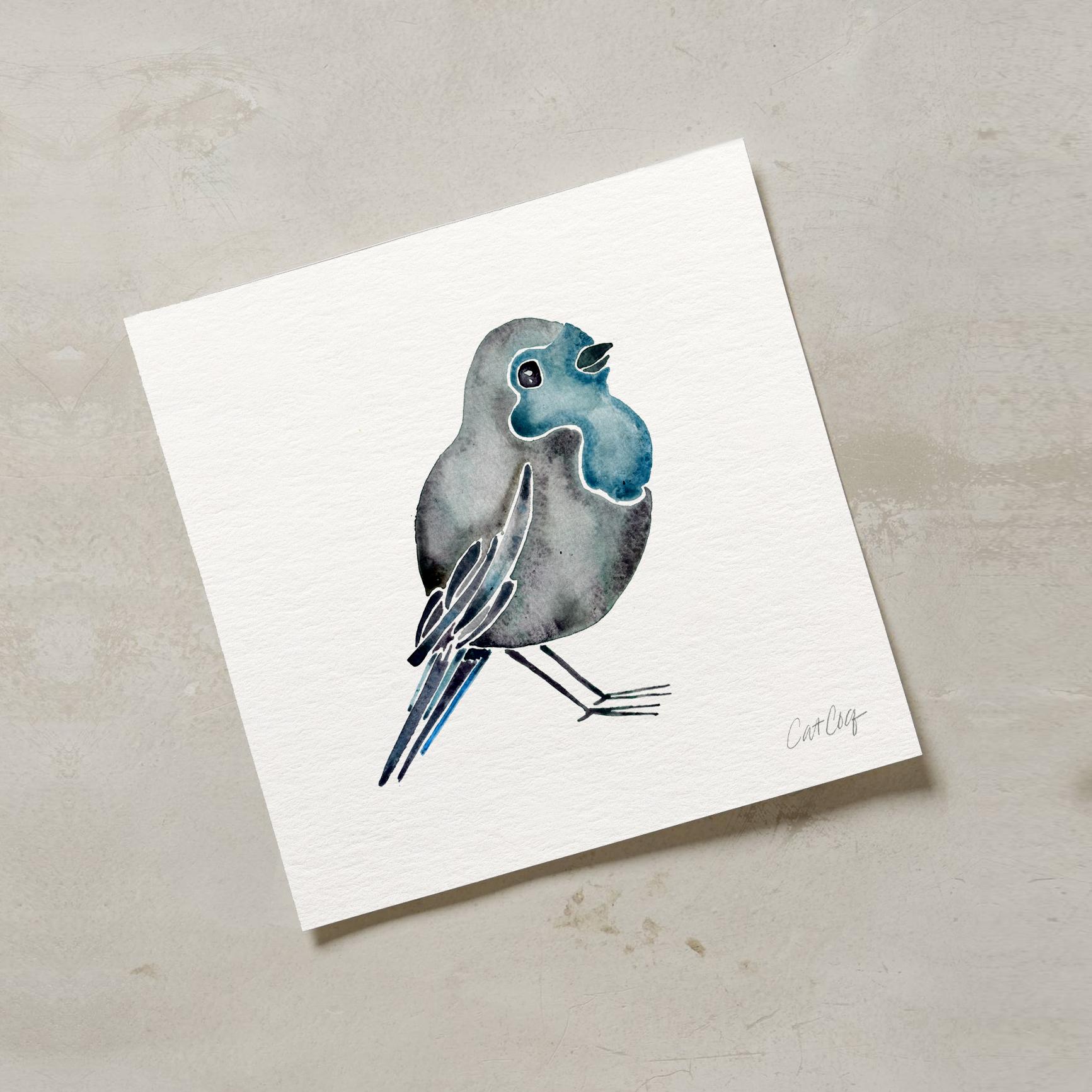 Blue Bird art print available  here .