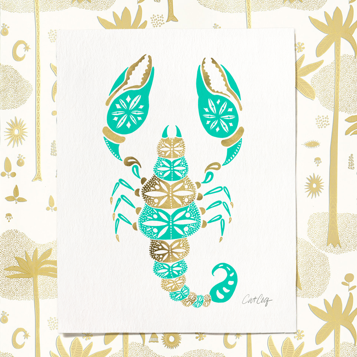 Scorpion art print available  here .