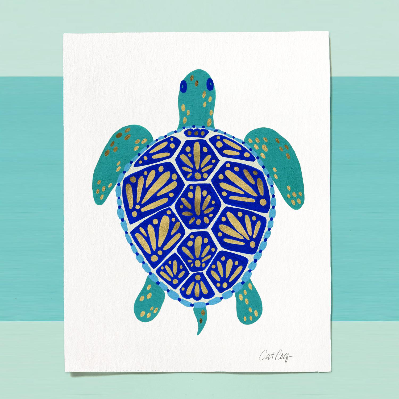 Sea Turtle art print available  here .