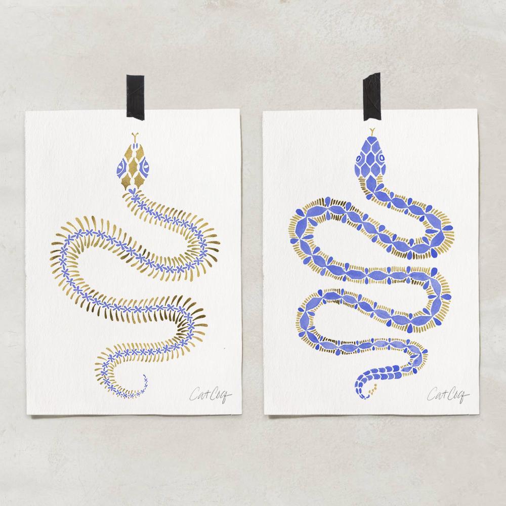 Serpent Skeleton art print available  here . Serpent art print available  here .