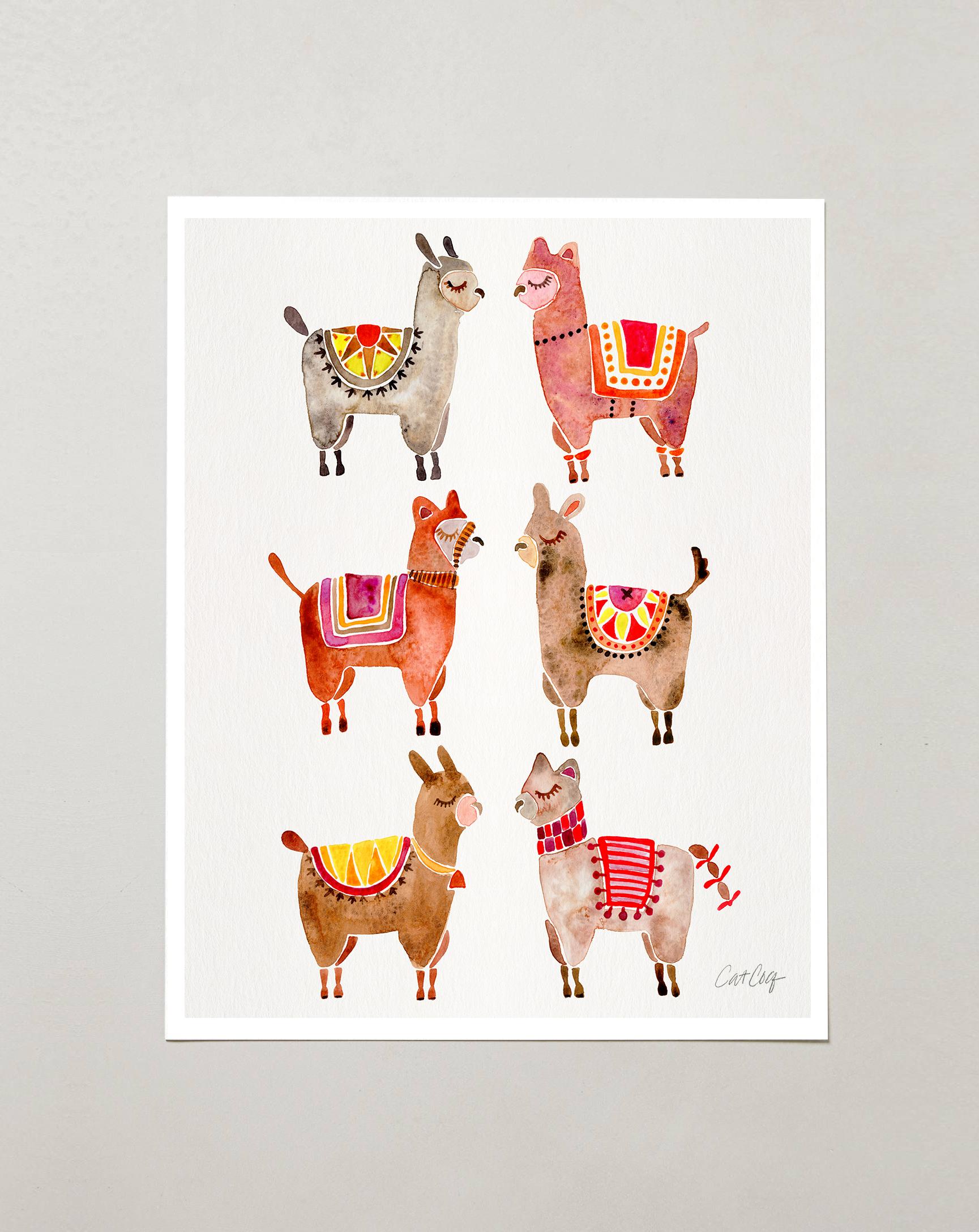 Alpacas art print available  here .