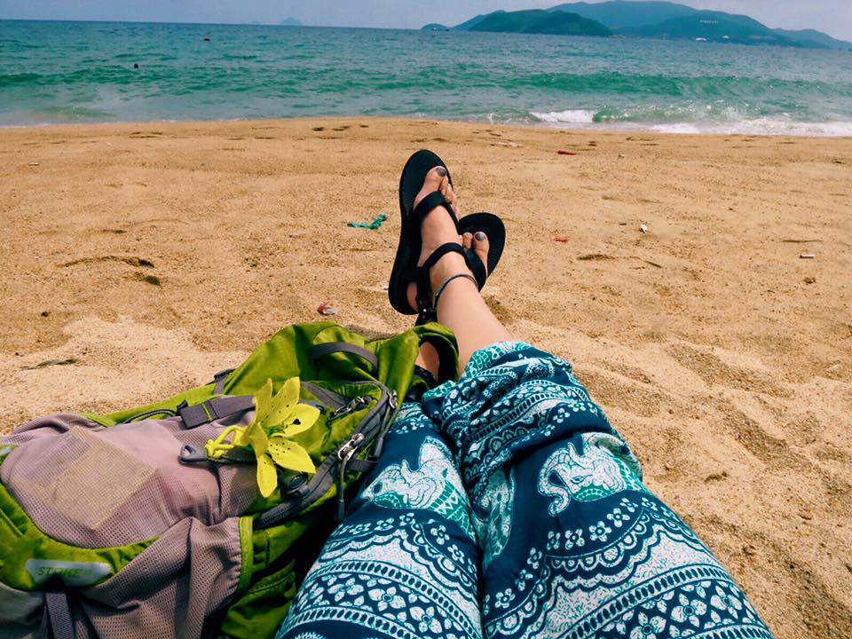 I'm reunited with the South China Sea, but this time on the the opposite side, 700 miles to the west from where I was before in the Philippines. I've packed in a lot during the past few days, so today I'm going to plop down right here with my book all day. (Side note: I lasted 18 days in SE Asia before I caved & bought the stereotypical westerner backpacking pants. I was only intending to wear them on busses & trains, but they're so comfy it's now 24/7.)
