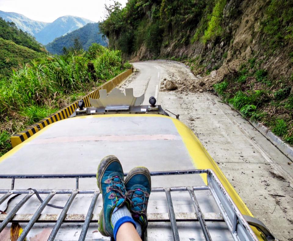 My ride from Batad back to Banaue.Leveling up on Uber.